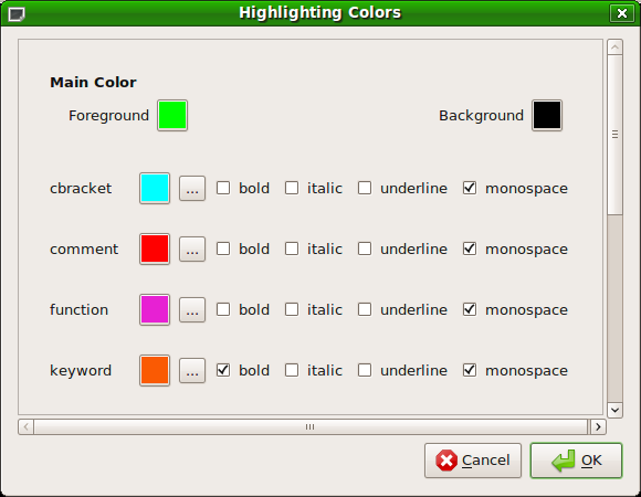 ColorDialog screenshot
